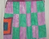Hippie Patchwork Goddess Nursing Dress Hand Dyed Muslin (6004)