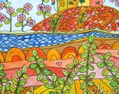 Happyscape VI - Original Watercolour Painting