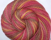 Smelling The Roses II - handspun and handpainted extra soft BFL yarn, aran weight, 86yds