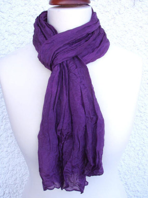 Silk scarf, handpainted, 160x40cm (64x16inch), for nuno felting, or to wear as is