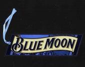 Blue Moon Bookmark - dark blue background