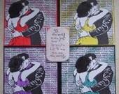 Kissing Couple 4 Panel Art