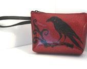 Raven Clutch-Ruby Red Glitter