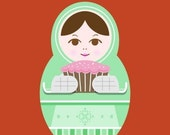 Print-Matryoshka (nesting doll)-Treats