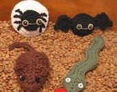 Creepy Crawlies Crochet Pattern Set PDF