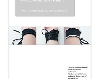 Knit and Crochet Cuff Pattern PDF