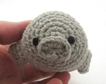Manatee, Handmade Amigurumi Toy