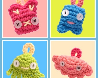 Mini Mascot Crochet Pattern Set PDF