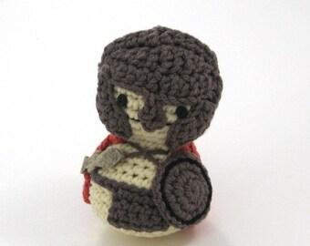 Spartan, Handmade Crocheted