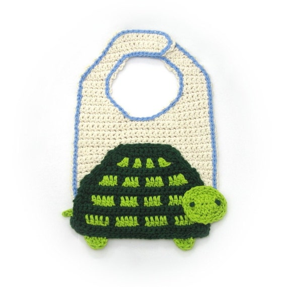 Crochet Turtle Bib Pattern PDF