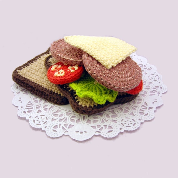 Crochet Pork Chop Sandwiches Pattern PDF