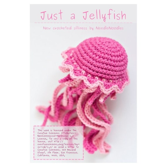 Free Crochet Pattern For Jellyfish : Amigurumi Jellyfish Pattern PDF