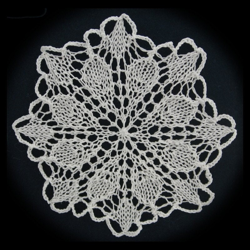 More Knit Snowflakes Pattern PDF