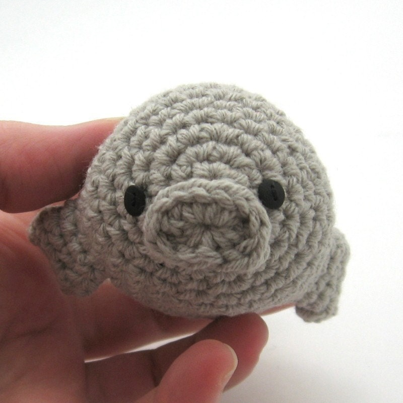 Crochet Amigurumi Manatee : Manatee Handmade Amigurumi Toy