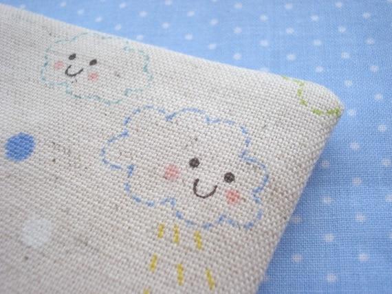 Kawaii----happy clouds----zippy pouch