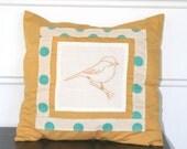 Chickadee pillow cover