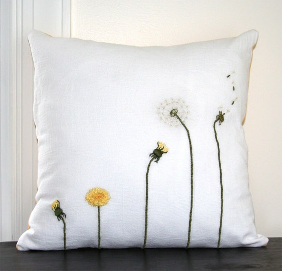 Dandelion Life Cycle Pillow Cover
