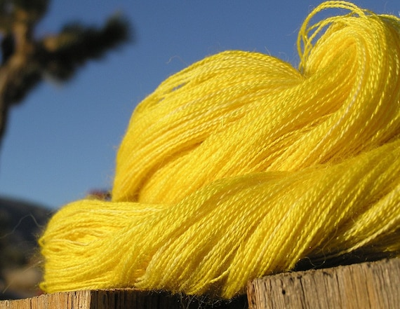 Lace Weight Yarn - Baby Alpaca, Silk, Cashmere - Blazing Star