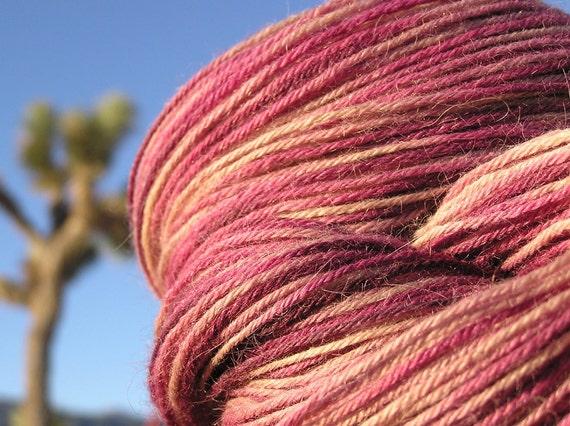 Natural Dye - Suri Alpaca and Merino - Cochineal and Rabbit Bush