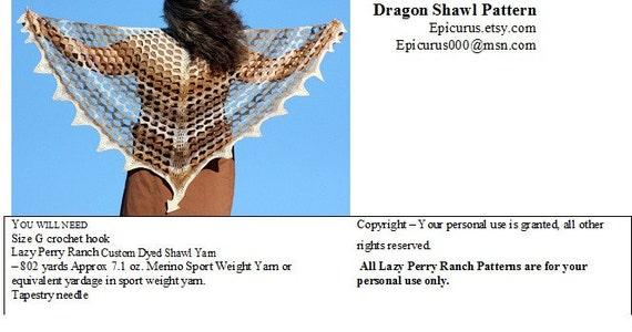 Crochet Shawl Pattern - Dragon Shawl