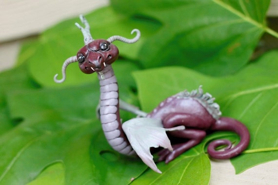 Sugilite Myxie Dragon Sculpture