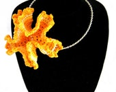Crochet Necklace RESERVED FOR DRSPHINX Asiatic Lily Flower on Silver Chain