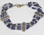Iolite and Pearl Bracelet