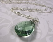 Seafoam Necklace - Fluorite and Sterling Silver