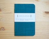 2012 Calendar / Mini Pocket Planner - Peacock