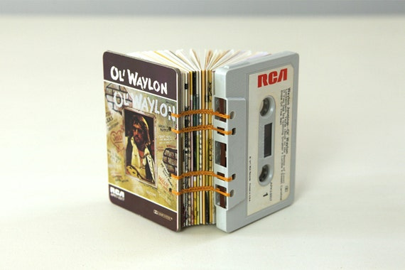 Waylon Jennings Cassette Tape Blank Book / Journal