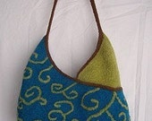 Felted Knitting PATTERN -  Half  and  Half Tote Bag PATTERN     (PDF- instant download