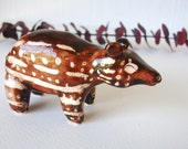 Baby Spottted Tapir Porcelain Sculpture Original