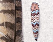 Modern Woodland Chevron Owl Pin