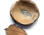 Woodland Fairy Leaf Impression Stoneware Bowl