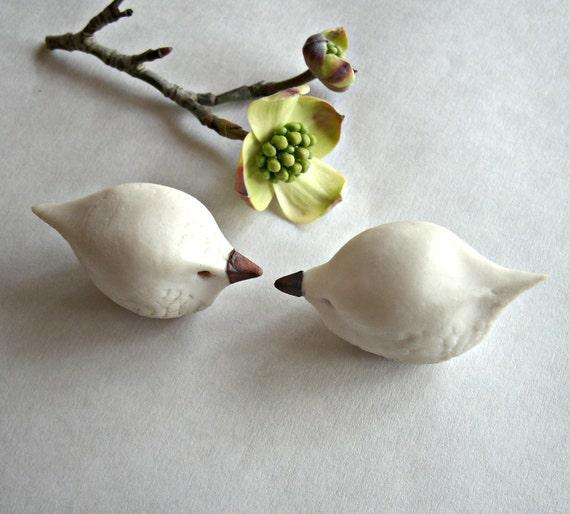 Sweet Tweets, Romantic Porcelain Birds In Love, Spring is in the Air