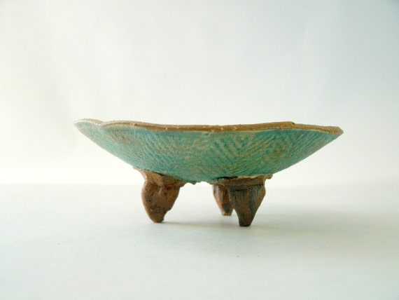 Tribal Chevron and Diamond  Stoneware Art Bowl or Trinket Dish