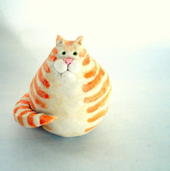 Fat Porcelain Orange Marmalade Cat