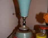 retro blue table lamp