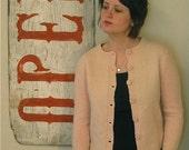 vintage 50's pink wool cardigan