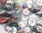 A grab bag of 10 random buttons