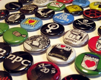 CHOOSE 10 from our catalog - Buttons, Magnets, or Bottle Openers