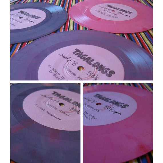 Tagalongs 7 inch vinyl record and zine