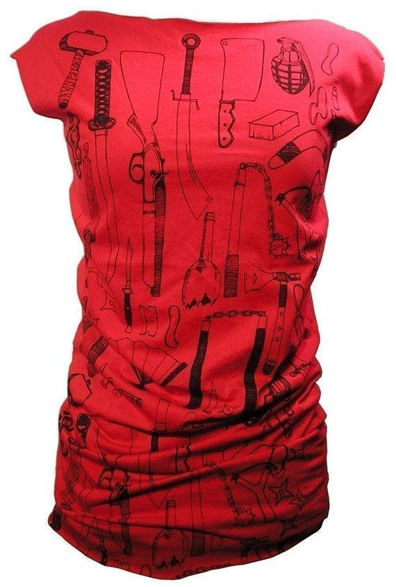 Red Weapons T Dress
