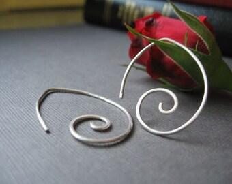 Spiral Raindrop Earrings
