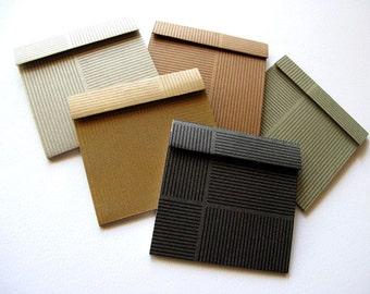 5 Earthy Matchbook Notepads