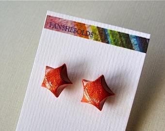 Lucky Star Origami Earrings