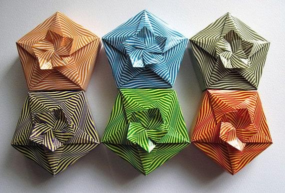 Origami Cherry Blossom Boxes