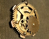 Mechanica Necklace Gears Brass