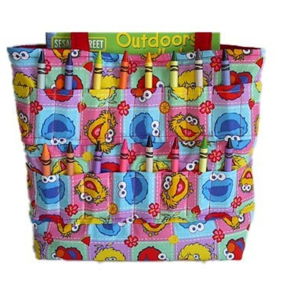 Going out of business SALE - Shop closing Jan 31 - Sesame street Crayon Tote bag