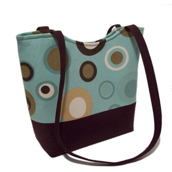 Retro Circles SMALL Tote bag